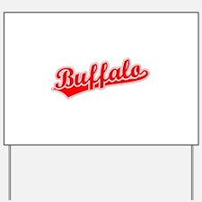 Retro Buffalo (Red) Yard Sign