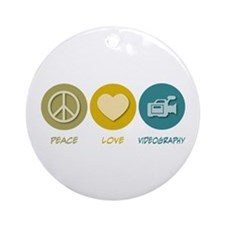 Peace Love Videography Ornament (Round)