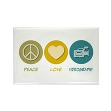 Peace Love Videography Rectangle Magnet