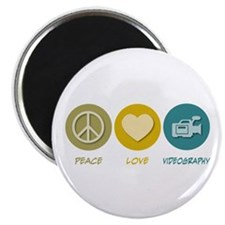 "Peace Love Videography 2.25"" Magnet (10 pack)"