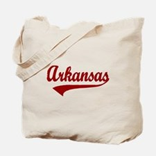 Arkansas - Red Retro Tote Bag