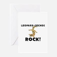 Leopard Geckos Rock! Greeting Cards (Pk of 10)