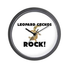 Leopard Geckos Rock! Wall Clock