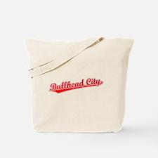 Retro Bullhead City (Red) Tote Bag