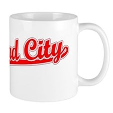 Retro Bullhead City (Red) Mug