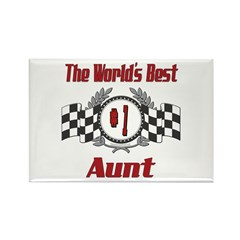 Racing Aunt Rectangle Magnet (100 pack)