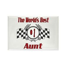 Racing Aunt Rectangle Magnet