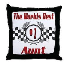 Racing Aunt Throw Pillow