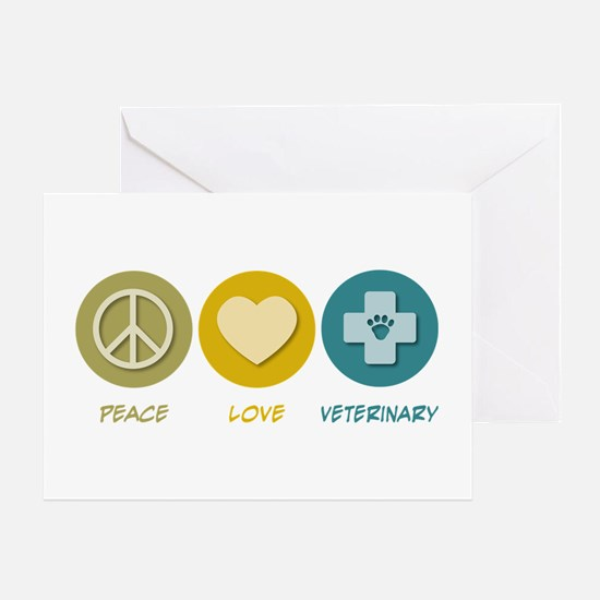 Peace Love Veterinary Greeting Card