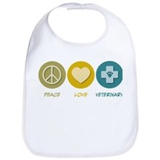 Peace Love Veterinary Bib