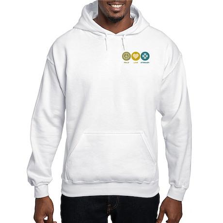 Peace Love Veterinary Hooded Sweatshirt