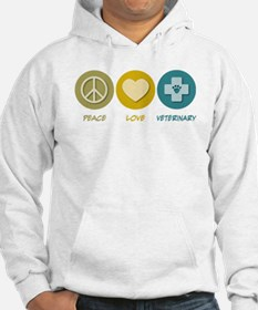 Peace Love Veterinary Jumper Hoody