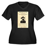 Soapy Smith Women's Plus Size V-Neck Dark T-Shirt