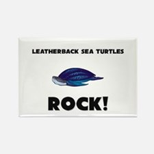 Leatherback Sea Turtles Rock! Rectangle Magnet