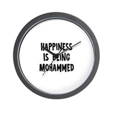 Happiness is being Mohammed Wall Clock