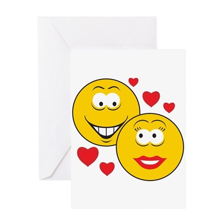 Smiley Faces in Love Greeting Card