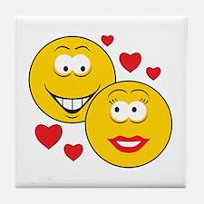 Smiley Faces in Love Tile Coaster