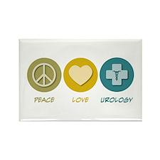Peace Love Urology Rectangle Magnet