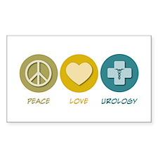 Peace Love Urology Rectangle Decal