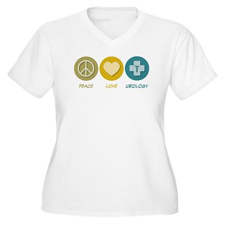 Peace Love Urology Women's Plus Size V-Neck T-Shir