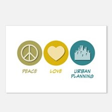 Peace Love Urban Planning Postcards (Package of 8)