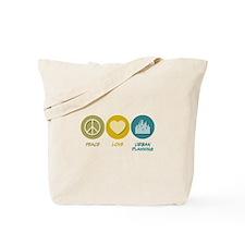 Peace Love Urban Planning Tote Bag