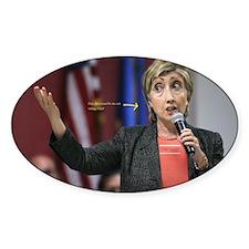 Hillary Clinton Oval Decal