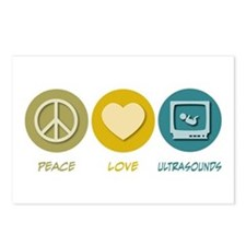 Peace Love Ultrasounds Postcards (Package of 8)