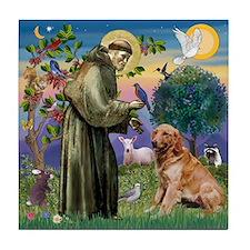 St Francis & Golden Tile Coaster