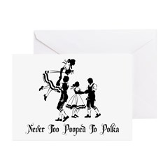 Never Too Pooped To Polka Greeting Cards (Pk of 10