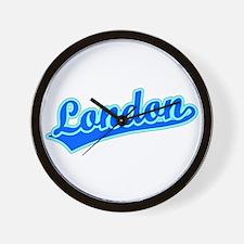 Retro London (Blue) Wall Clock