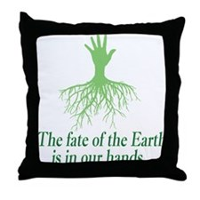 earth is in our hands Throw Pillow