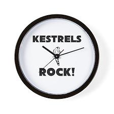 Kestrels Rock! Wall Clock