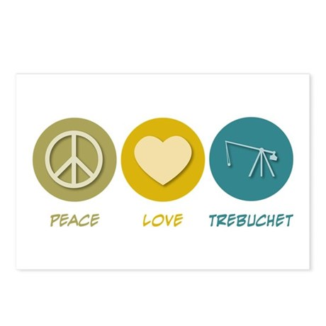 Peace Love Trebuchet Postcards (Package of 8)