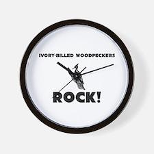Ivory-Billed Woodpeckers Rock! Wall Clock
