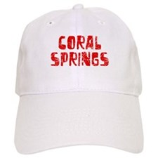 Coral Springs Faded (Red) Baseball Cap