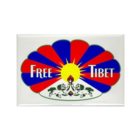Free Tibet - Human Rights Rectangle Magnet