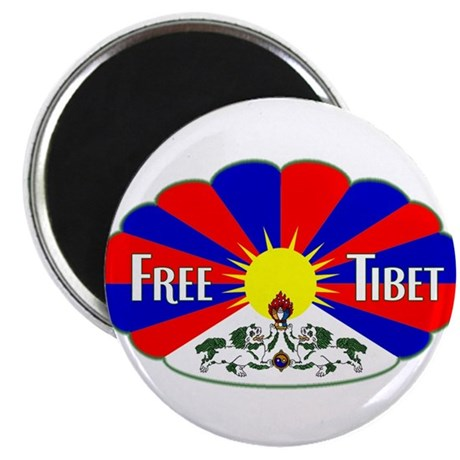 Free Tibet - Human Rights Magnet