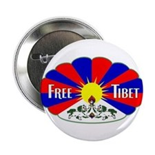 "Free Tibet - Human Rights 2.25"" Button"
