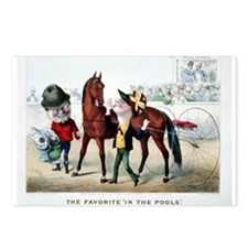 Antique Horse Racing Postcards (Package of 8)
