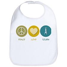 Peace Love Tours Bib