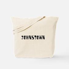 Johnstown Faded (Black) Tote Bag