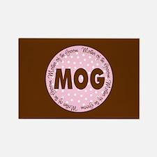 Polka Dot Groom's Mother Rectangle Magnet