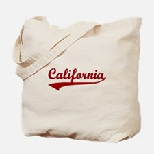 California - Red Retro Tote Bag