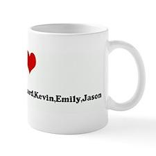 I Love Asha,Robin,Rickey,Rich Mug