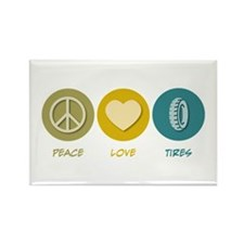Peace Love Tires Rectangle Magnet
