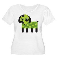 Green Spotted Dog T-Shirt
