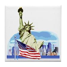 Statue of Liberty Tile Coaster