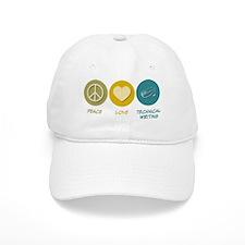 Peace Love Technical and Business Writing Baseball Baseball Cap