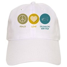Peace Love Technical and Business Writing Baseball Cap